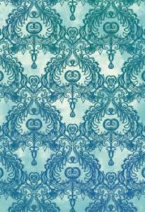 Print A Wallpaper Vintage Wallpaper Pattern In Cobalt Blue Amp Emerald Green
