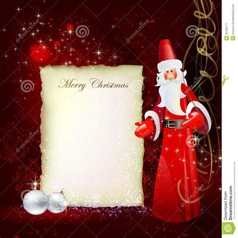 christmas background santa letter templat stock