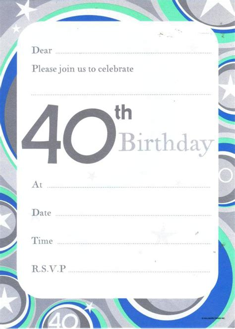40th birthday invites templates 11 unique and cheap birthday invitation that you can try