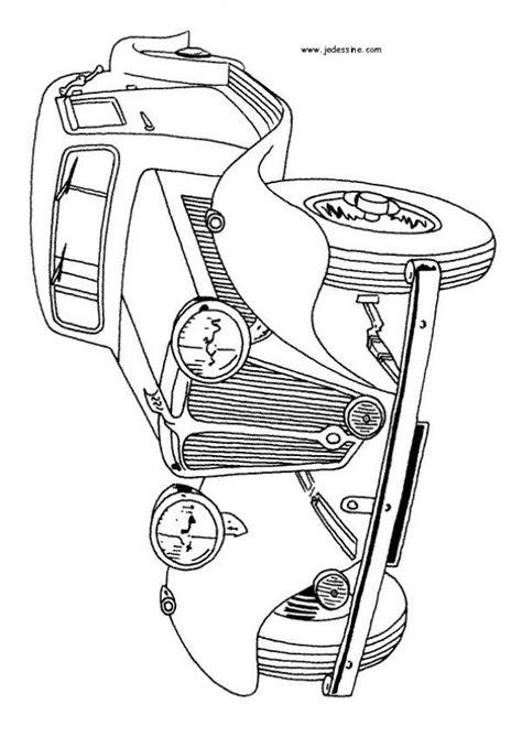 Dibujos para colorear CARROS, coche viejo para imprimir