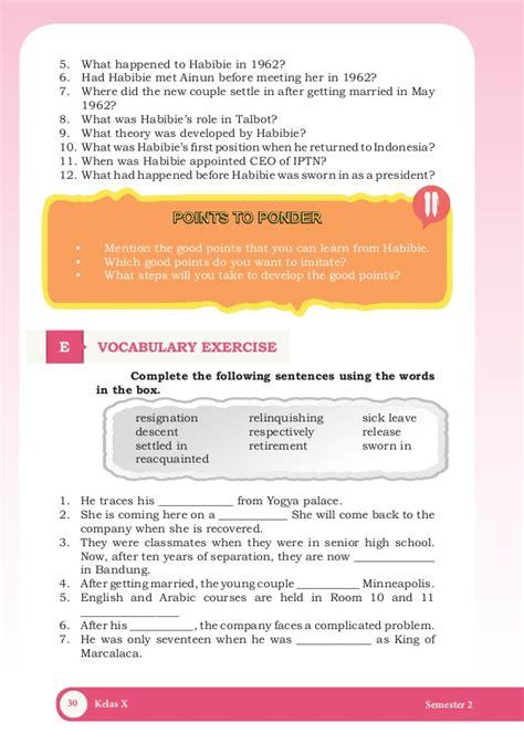 biography bj habibie dalam bahasa inggris buku bahasa inggriss semester 2 kelas x kurikulum 2013