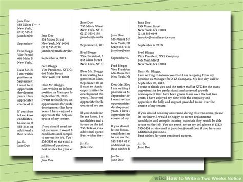 two weeks notice letter example writing a 2 week notice letter