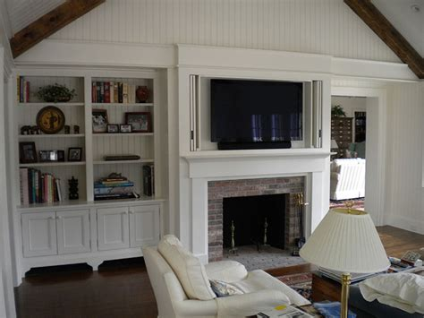 cabinet for tv over fireplace built in window seat bookcase around fireplace in family