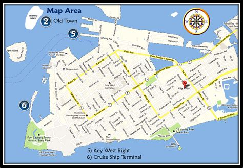 printable map key west maps excursions of key west