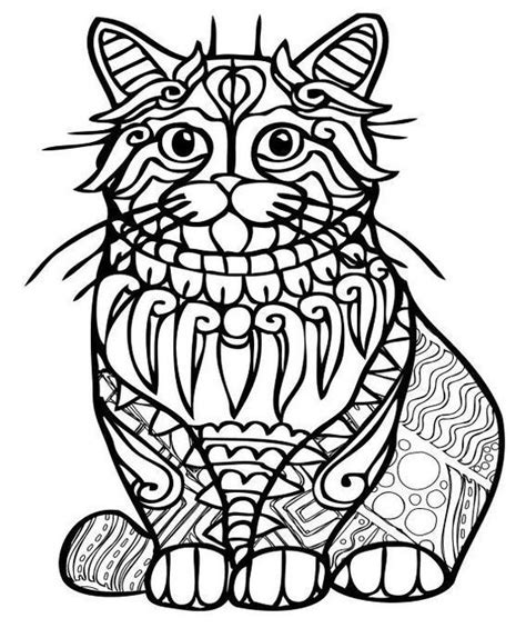 cat mandala coloring page 68 best cats to color images on pinterest coloring books