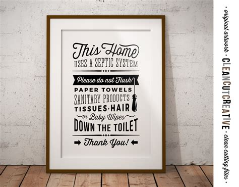 bathroom signs for septic systems bathroom sign septic system do not flush toilet sign