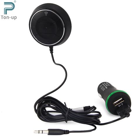 Promo Special Car Aux Bluetooth Rexeiver Wireless Bt 350 wireless car kit bluetooth v4 0 nfc aux audio receiver adapter free 3 5mm built in