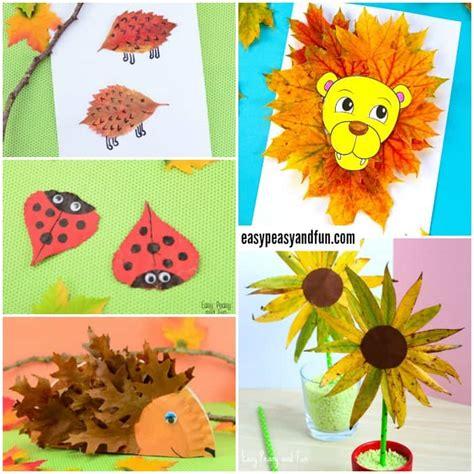 leaf craft for wonderful fall leaf crafts ideas easy peasy and