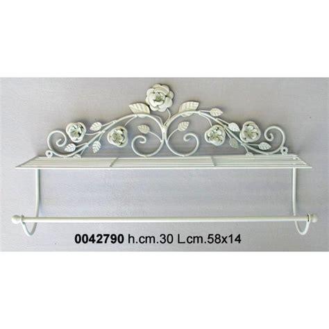 mensole ferro battuto portasciugamani da bagno con mensola portaoggetti in ferro