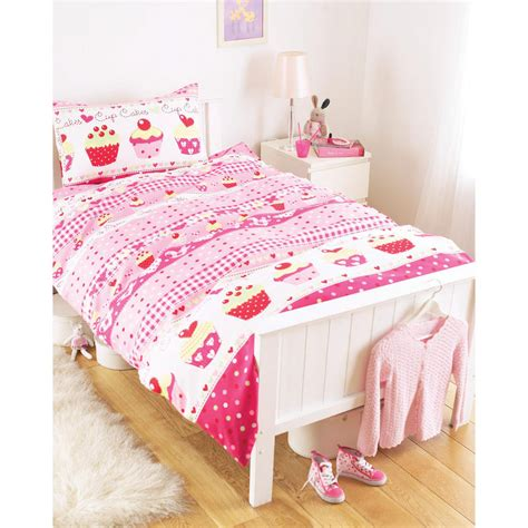 bed covers for girls kids girls cup cake single duvet cover bed set