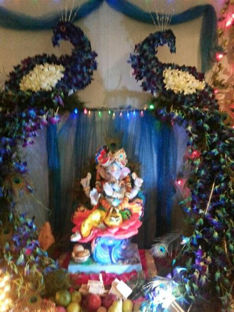 decoration themes for ganesh festival at home ganpati puja like pinterest decoration