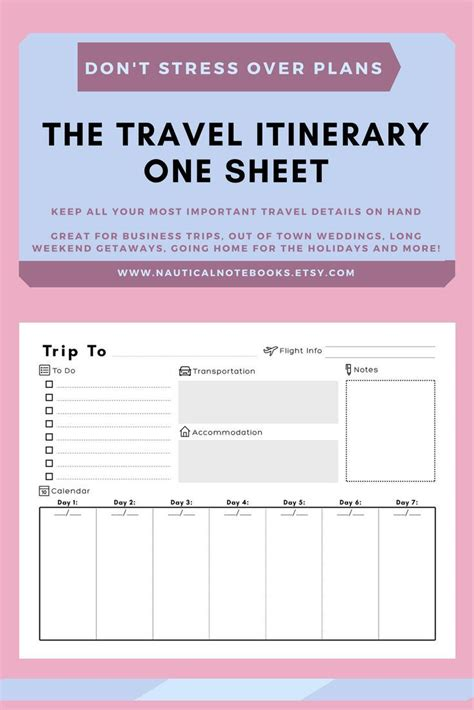 travel itinerary template family travel planner