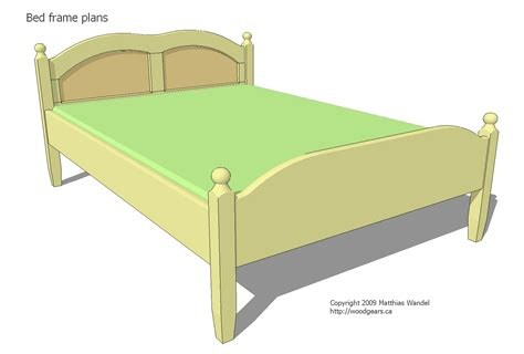 double sized bed double bed plans
