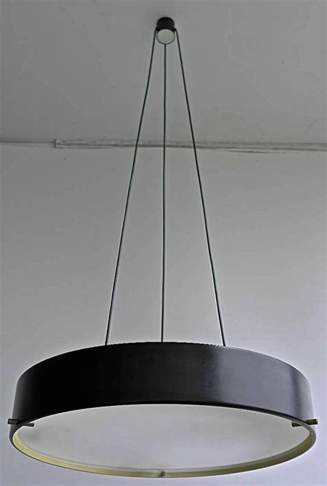Painted Ceiling Lights by Bruno Gatta Painted Metal Brass And Glass Ceiling Light