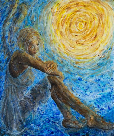 Home Decor Apps For Ipad Angel Moon Ii Painting By Nik Helbig