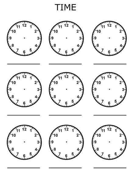 free worksheets for kids telling time in english