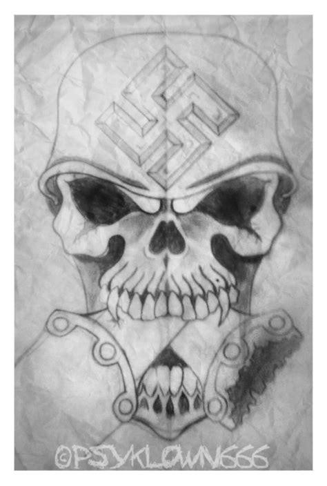 nazi tattoos designs skull by psyklown666 on deviantart