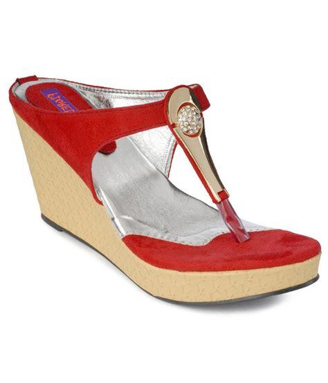 comfortable red heels fiorella comfortable red slip on heels price in india buy