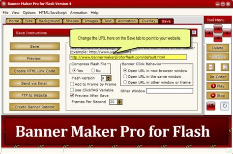 banner maker pro for flash software to create a flash banner ad make a flash intro swf and