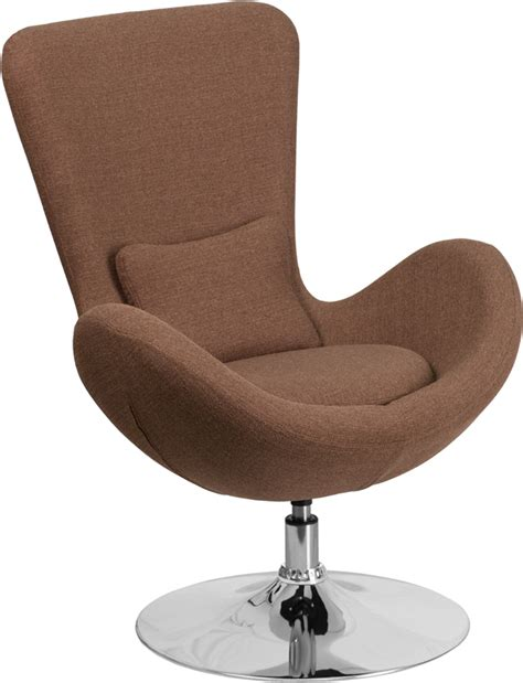 Fab Flash Designer And Carpet Relations Strictly Business by Brown Fabric Egg Series Reception Lounge Side Chair