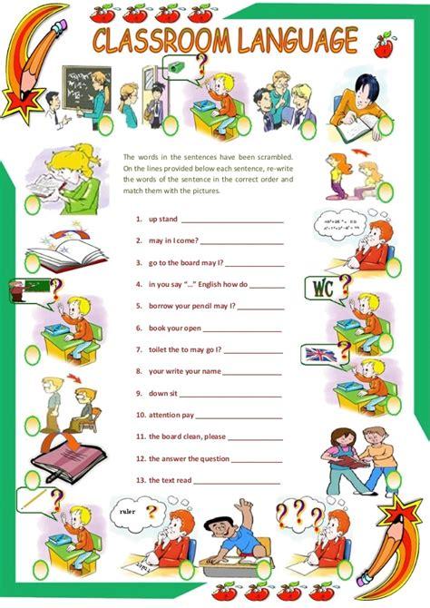 sentence patterns classroom games classroom language scrambled sentences