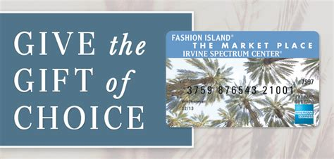 Fashion Island Gift Card - fashion island shopping dining and entertainment