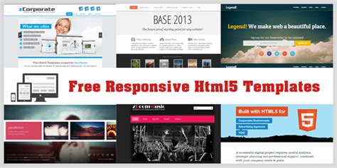 best free html5 responsive templates free html5 website templates learnhowtoloseweight net