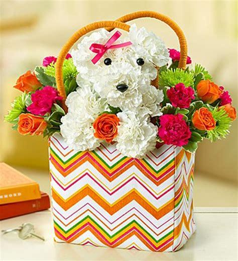 puppy flower arrangement 7 delightful flower arrangements for the 7 types of barkpost
