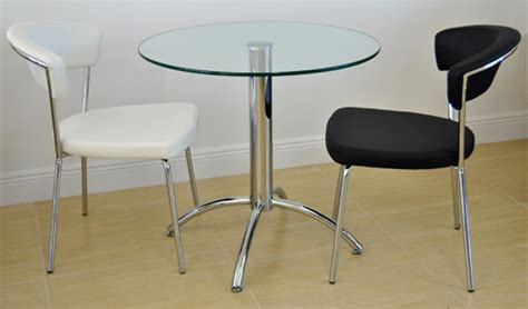 Glass Bistro Table And 2 Chairs Small Dinette 434 Chairs With Chrome Table Alfa Dinettes