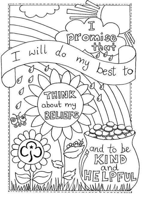 Outline In Color Promises by 17 Best Images About Rainbows Girlguiding On Adventure Activities Pinwheel Craft