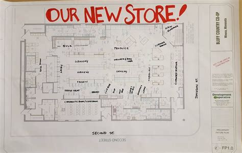 grocery store floor plan winona s community owned cooperatively run grocery store