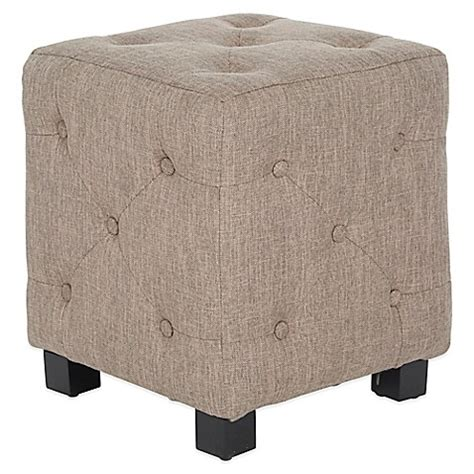 small grey ottoman buy angelo home duncan small tufted cube ottoman in smoke