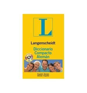 libro langenscheidt diccionario moderno alemn langenscheidt diccionario compacto aleman cdrom