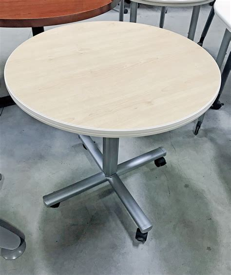 maple laminate  mobile table  steelcase