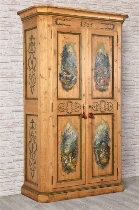 armadio stile antico armadio a 2 ante in abete antico dipinto a mano in stile