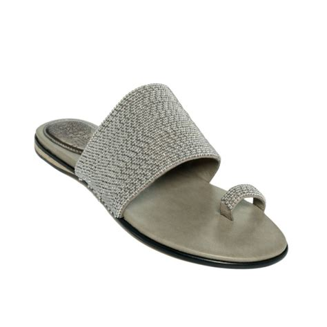 vince camuto silver sandals vince camuto athens sandals in silver pewter lyst