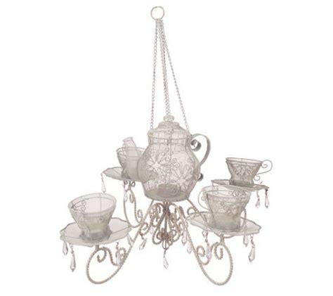whitewashed chandelier tea set motif whitewashed tea light chandelier by valerie