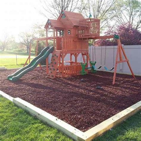 swing mats recycled rubber mulch