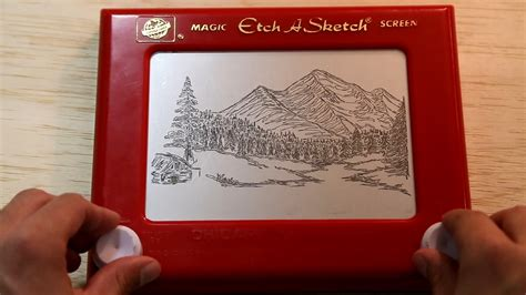 Etch A Sketches by Bob Ross On Etch A Sketch