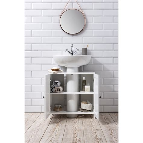 Stow Bathroom Sink Cabinet Undersink In White Noa Nani Sink Bathroom Storage Cabinet