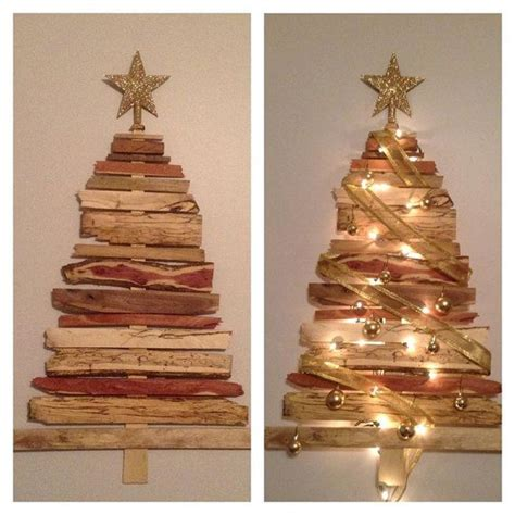 handmade wooden christmas tree