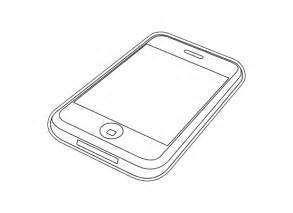 Iphone 3gs Black White Line Art Coloring Book Colouring 555pxpng sketch template