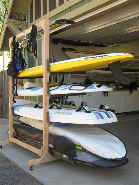 Garage Storage Ideas For Kayaks How Do You Store Your Sup S Pinteres
