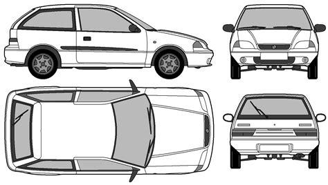 Promo Sticker Vinyl 3d Timor Gt car blueprints 1993 suzuki gs 3 door hatchback