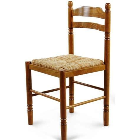 chaise de salle  manger en bois paille jeanne