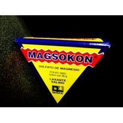 sal de higuera magsokon sulfato de magnesio 100 26gr polvo farmacia