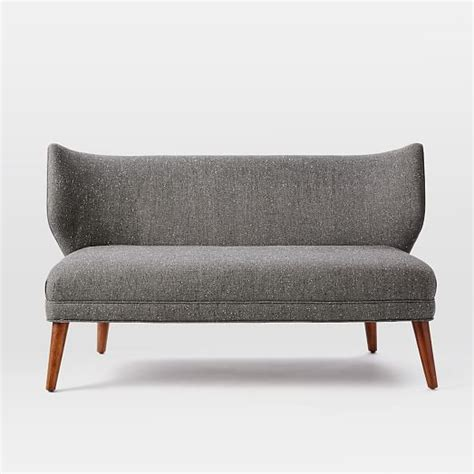 settee west elm retro wing settee 56 quot west elm