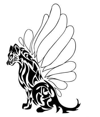 tribal angel tiger tattoo tattoo from itattooz