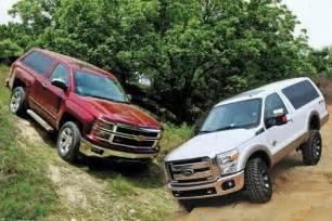 2016 ford bronco chevy blazer prototype trucks to