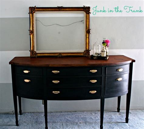 Top Coat For Painted Furniture by Repainted Buffet Sloan S Graphite Chalk Paint With A Clear Wax Top Coat Top Stain With